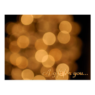 Holiday Lights Gift Certificate Postcard