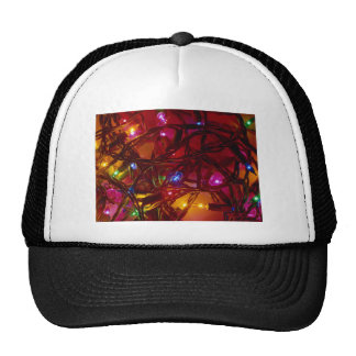 holiday lights mesh hat