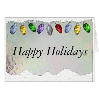Holiday Lights in Stained Glass Card