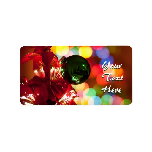 Holiday Lights Labels