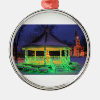 Holiday Lights on Town Common Metal Ornament