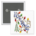 Holiday Lights Pinback Button