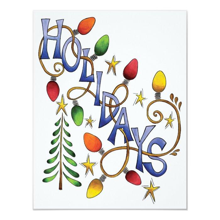 Holiday Lights Stars Christmas Party Invitation