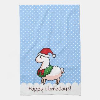 Holiday Llama Elf Hand Towel