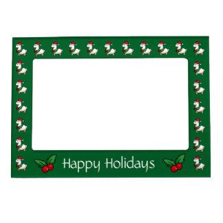 Holiday Llama Elf Magnetic Photo Frame