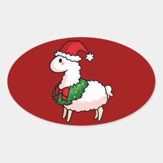 Holiday Llama Elf Stickers