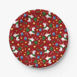 Holiday Llama Madness 7 Inch Paper Plate