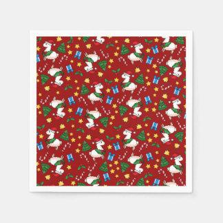 Holiday Llama Madness Paper Napkin