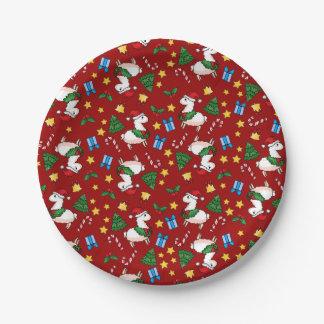 Holiday Llama Madness Paper Plate