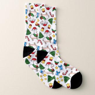 Holiday Llama Madness Socks