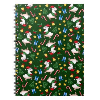 Holiday Llama Madness Spiral Notebook