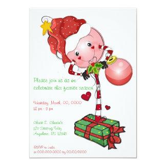 Holiday Lolly Invitation