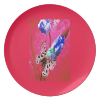 HOLIDAY LOVE BIRDS CORAL PINK CELEBRATION PLATE