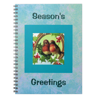 Holiday Love Birds Spiral Notebook