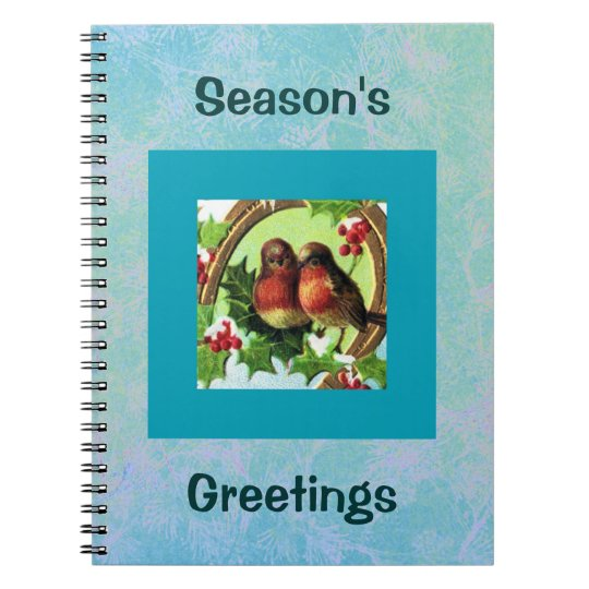 Holiday Love Birds Spiral Notebook