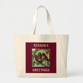 Holiday Love Birds Tote Bag