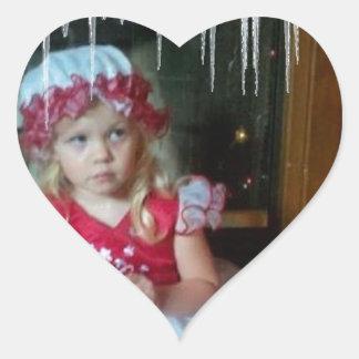 HOLIDAY LOVE HEART STICKER