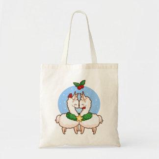 Holiday Love Llamas Tote Bag