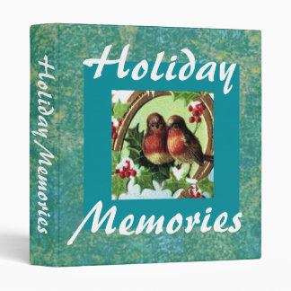 Holiday Lovebirds binder