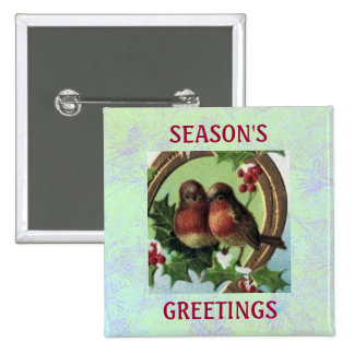 Holiday Lovebirds Button