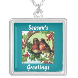 Holiday Lovebirds necklace
