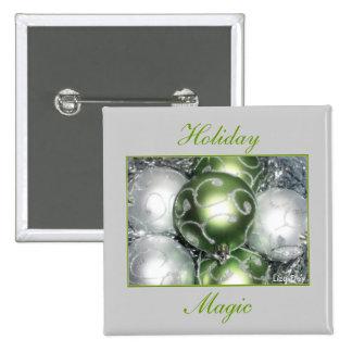 'Holiday Magic'  Square Button
