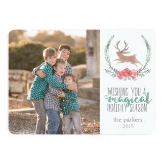 Holiday Magic | Woodland Jackalope Photo Cards