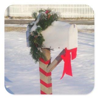 Holiday Mailbox sticker