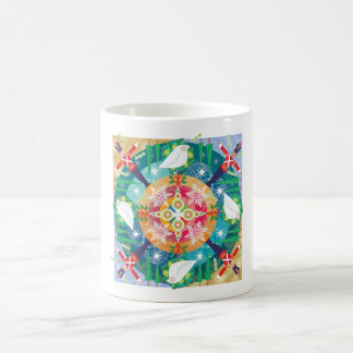 Holiday mandala mug