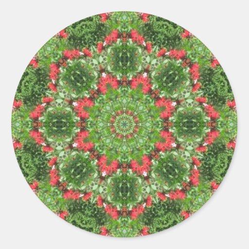 Holiday Mandala Seal Round Sticker