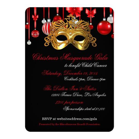 holiday masquerade gala invitations zazzle com