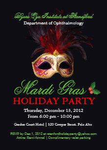 masquerade christmas invitations zazzle