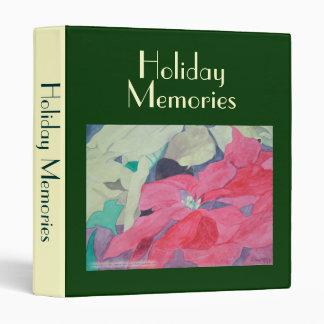 Holiday Memories Poinsettias Avery Binder