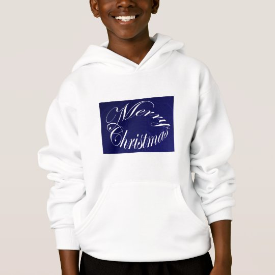 Holiday Merry Christmas Matching Blue Items Hoodie