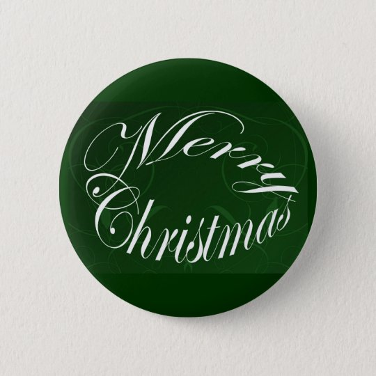 Holiday Merry Christmas Matching Green Items Button