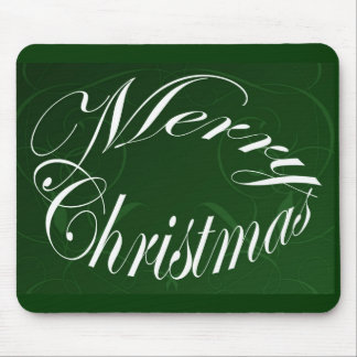 Holiday Merry Christmas Matching Green Items Mouse Pad