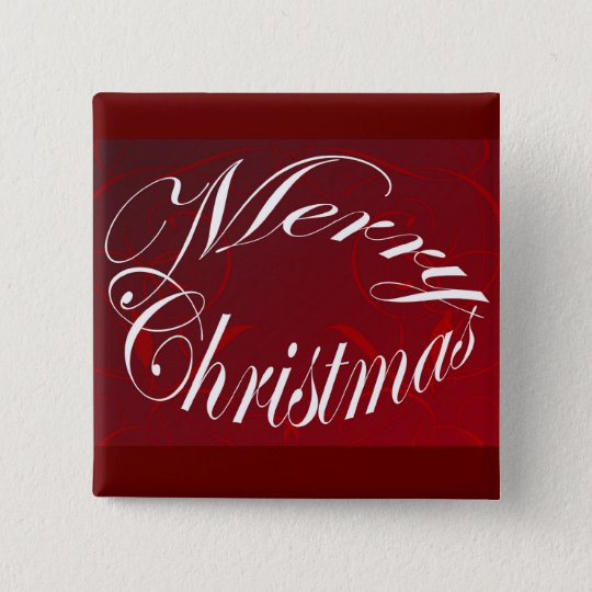 Holiday Merry Christmas Matching Red Items Button