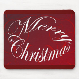 Holiday Merry Christmas Matching Red Items Mouse Pad