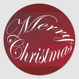 Holiday Merry Christmas Matching Red Items Stickers