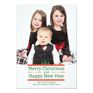 Holiday Message Photo Holiday Card