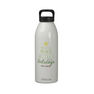 Holiday Message Tree Reusable Water Bottles