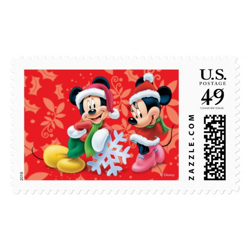 Holiday Mickey and Minnie Postage