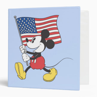 Holiday Mickey | Flag 3 Ring Binder