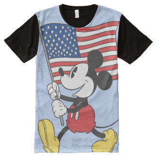 Holiday Mickey | Flag All-Over-Print T-Shirt