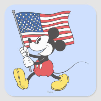 Holiday Mickey | Flag Square Sticker