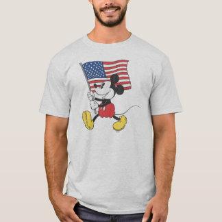 Holiday Mickey   Flag T-Shirt