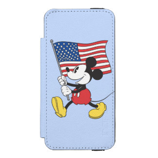 Holiday Mickey | Flag Wallet Case For iPhone SE/5/5s