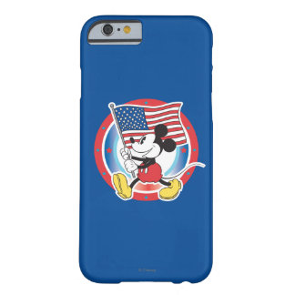 Holiday Mickey   Flag with Circle Barely There iPhone 6 Case