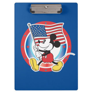 Holiday Mickey | Flag with Circle Clipboard
