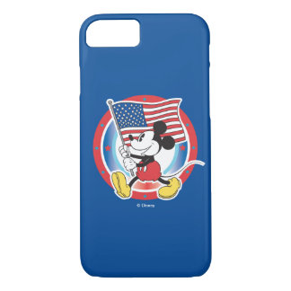 Holiday Mickey | Flag with Circle iPhone 8/7 Case